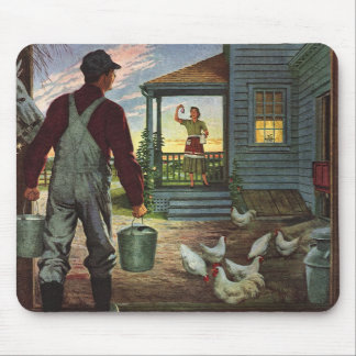 Vintage Business, Farmer Working on the Farm Mousepad