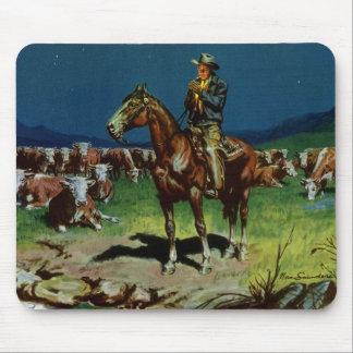 Vintage Business Farming, Cattle Rancher Cowboy Mouse Pad