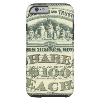 Vintage Business Finance Capital Stock Certificate iPhone 6 Case