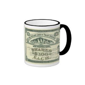 Vintage Business Finance Capital Stock Certificate Ringer Coffee Mug