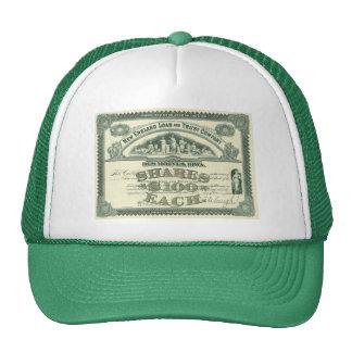 Vintage Business Finance Capital Stock Certificate Trucker Hat