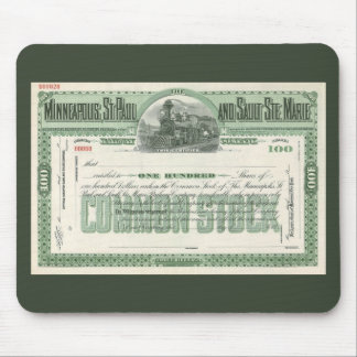 Vintage Business Finance, Common Stock Certificate Mouse Pad