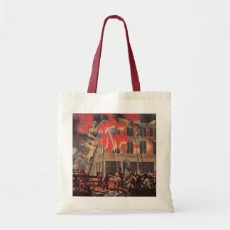 Vintage Business, Fire Fighters Fireman Firemen Budget Tote Bag