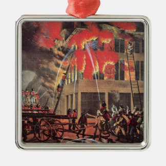 Vintage Business Firemen, Fire Fighters Fireman Metal Ornament