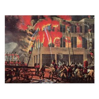 Vintage Business Firemen, Fire Fighters Fireman Postcard
