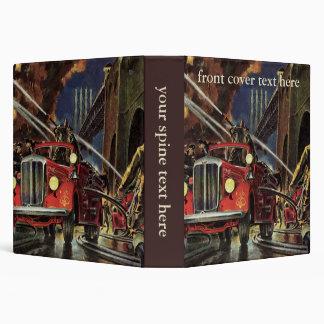 Vintage Business, Firemen Firefighters Fire Trucks 3 Ring Binders