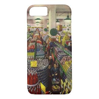 Vintage Business, Food and Beverages Supermarket iPhone 7 Case
