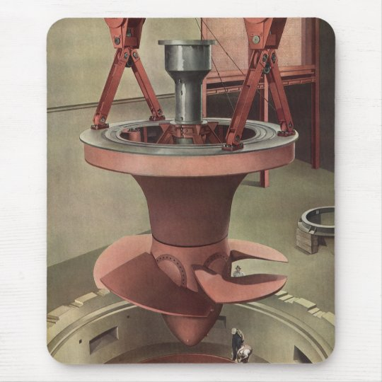 Vintage Business, Generator with Giant Turbine Mouse Pad