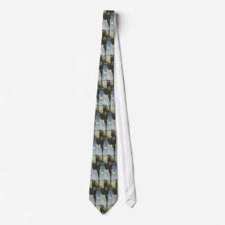 Vintage Business, Gushing Oil Well with Workers Neck Tie