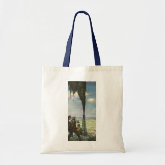 Vintage Business, Gushing Oil Well with Workers Tote Bag
