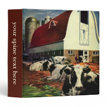 Vintage Business, Holstein Milk Cows on Dairy Farm Binder