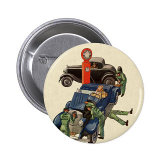 Vintage Business, Joe's Full Service Gas Station 2 Inch Round Button