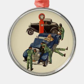 Vintage Business, Joe's Full Service Gas Station Christmas Tree Ornaments