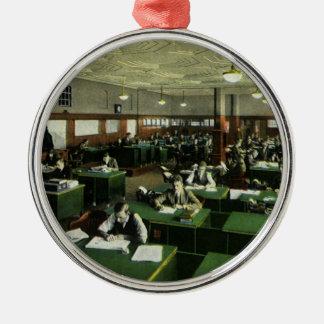 Vintage Business, Journalists in Newspaper Office Metal Ornament