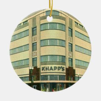 Vintage Business, Knapp's Department Store Ceramic Ornament