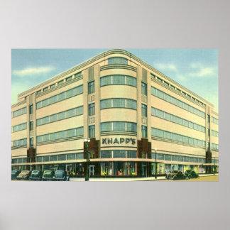 Vintage Business, Knapp's Department Store Poster
