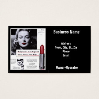 Vintage Business Lipstick Appointment Card