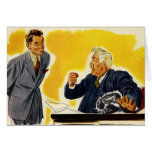 Vintage Business, Mad Execcutive CEO Boss Employee Greeting Cards
