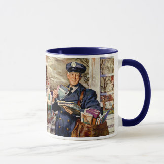 Vintage Business, Mailman Delivering Mail Letters Mug