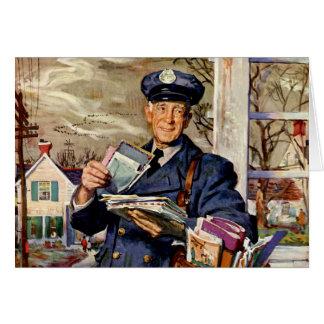 Vintage Business Mailman Mail Carrier Delivering Cards