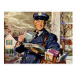Vintage Business, Mailman Mail Delivering Letters Postcards