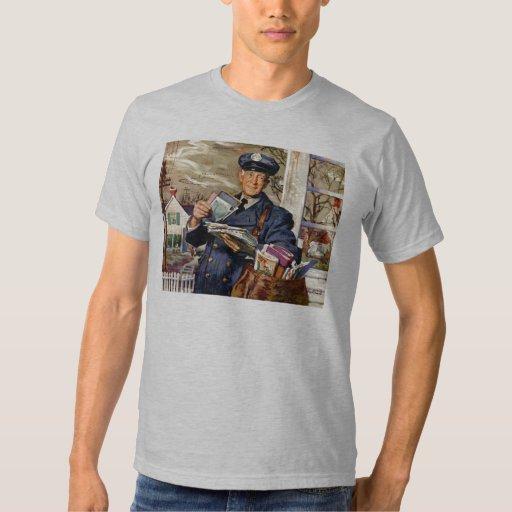 Vintage Business, Mailman Mail Delivering Letters T Shirt