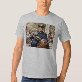 Vintage Business, Mailman Mail Delivering Letters Tee Shirt