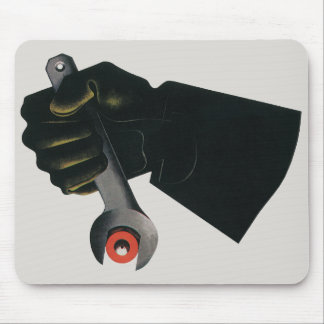 Vintage Business, Manufacturing Factory Machinist Mouse Pad