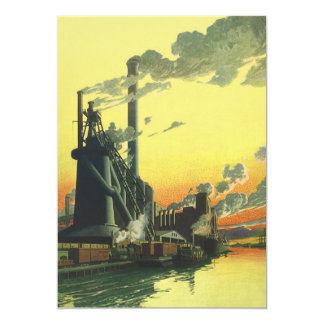 Vintage Business, Manufacturing Factory on a Dock Card