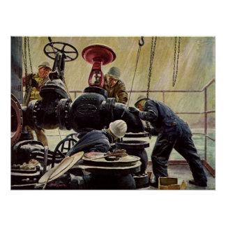 Vintage Business, Maritime Ship Maintenance Poster