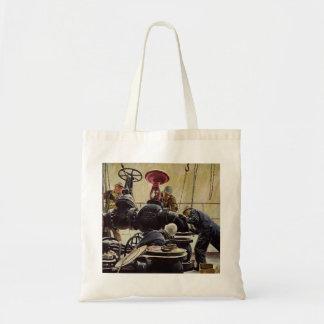 Vintage Business, Maritime Ship Maintenance Tote Bag