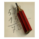 Vintage Business, Math Equation Addition Numbers Print