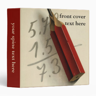 Vintage Business, Math Equation with Red Pencil Binder