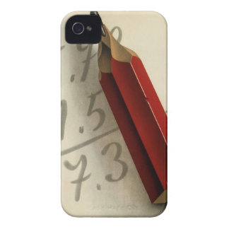 Vintage Business, Math Equation with Red Pencil Case-Mate iPhone 4 Case