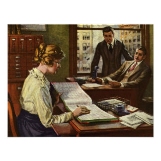 Vintage Business Meeting Exectutives in Office Custom Invites