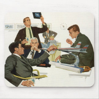 Vintage Business, Meeting with Airline Executives Mouse Pad