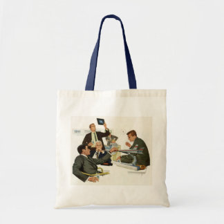 Vintage Business, Meeting with Airline Executives Tote Bag