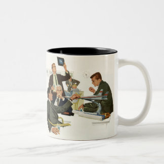 Vintage Business, Meeting with Airline Executives Two-Tone Coffee Mug