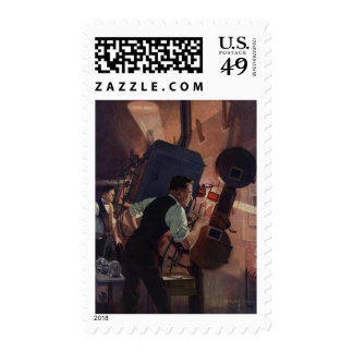 Vintage Business, Movie Theater Projectionist Postage