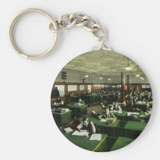 Vintage Business, Newspaper Office Journalists Key Chain