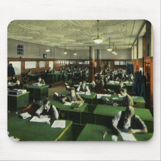 Vintage Business, Newspaper Office Journalists Mouse Pad