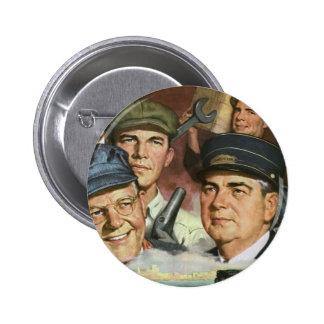 Vintage Business Occupations, Patriotic Patriotism Button