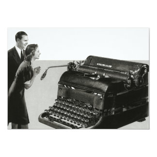 Vintage Business Office, Giant Manual Typewriter Card