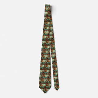 Vintage Business, Oil Tanker Ship with Dock Worker Neck Tie
