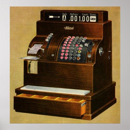 Vintage Business, Old Fashioned Cash Register Posters