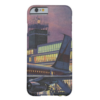 Vintage Business Passengers on Airplane at Airport Barely There iPhone 6 Case