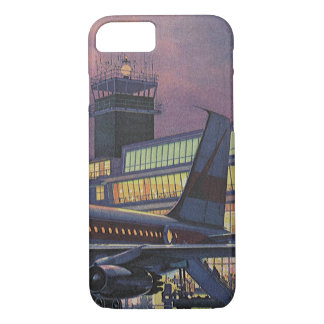 Vintage Business Passengers on Airplane at Airport iPhone 7 Case