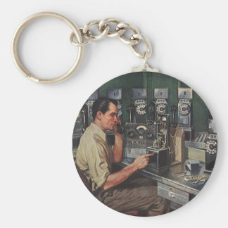 Vintage Business, Pay Phone Telephone Repairman Keychain