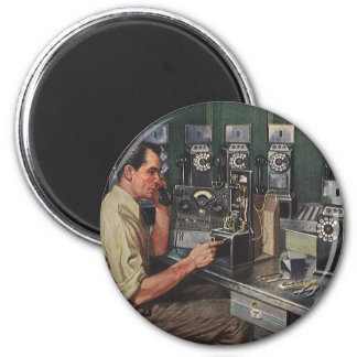 Vintage Business, Pay Phone Telephone Repairman Magnet