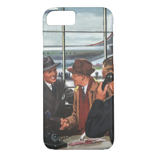 Vintage Business, People at Airline Ticket Counter iPhone 7 Case